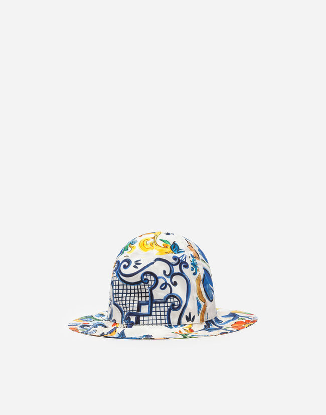 PRINTED COTTON HAT
