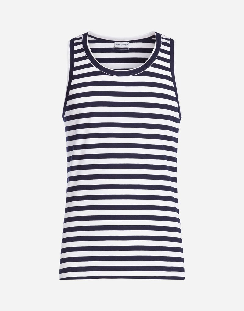 STRIPED COTTON SINGLET
