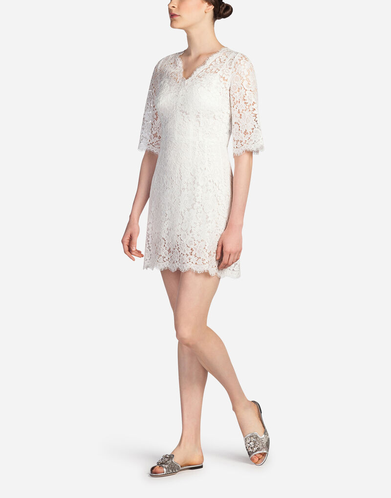 LACE DRESS WITH FLARED SKIRT