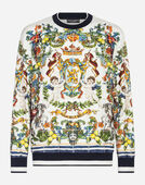 Dolce&Gabbana PRINTED COTTON SWEATSHIRT