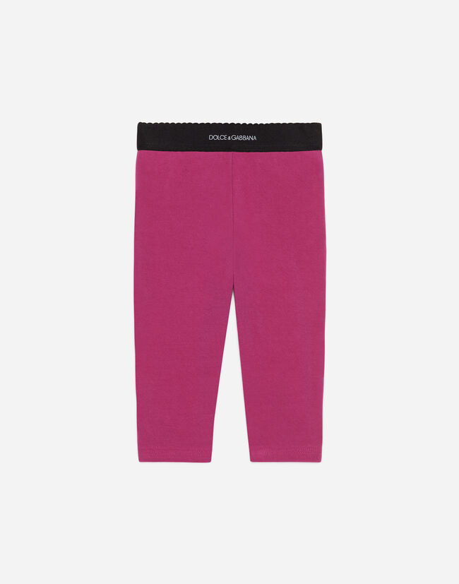 Dolce&Gabbana COTTON LEGGINGS WITH LOGO