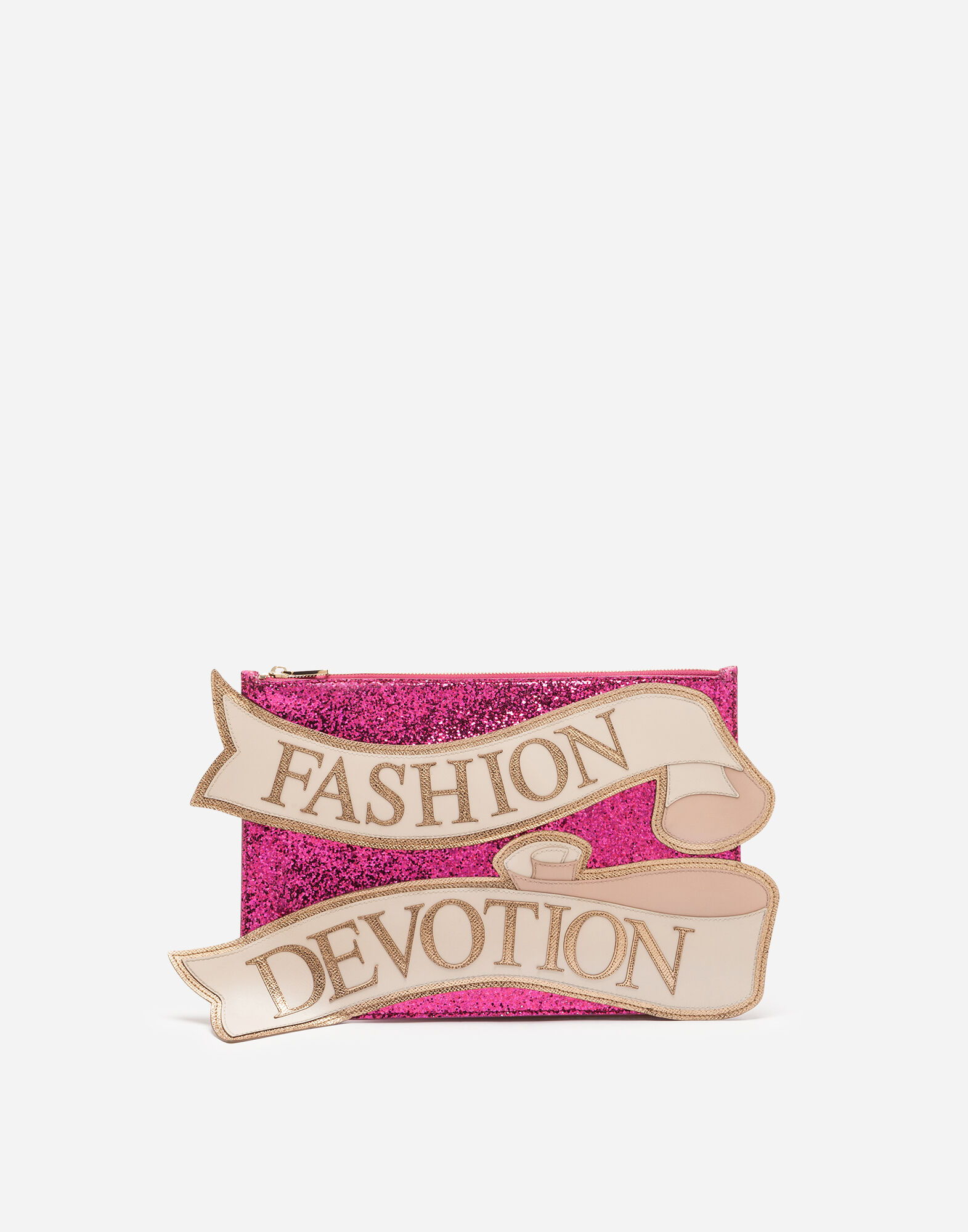 Medium Cleo Bag With Embroidery Patch in Pink