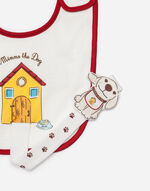 COTTON BIB WITH MIMMO DETAIL