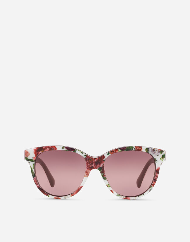 BUTTERFLY SUNGLASSES IN ACETATE WITH FLORAL PRINT