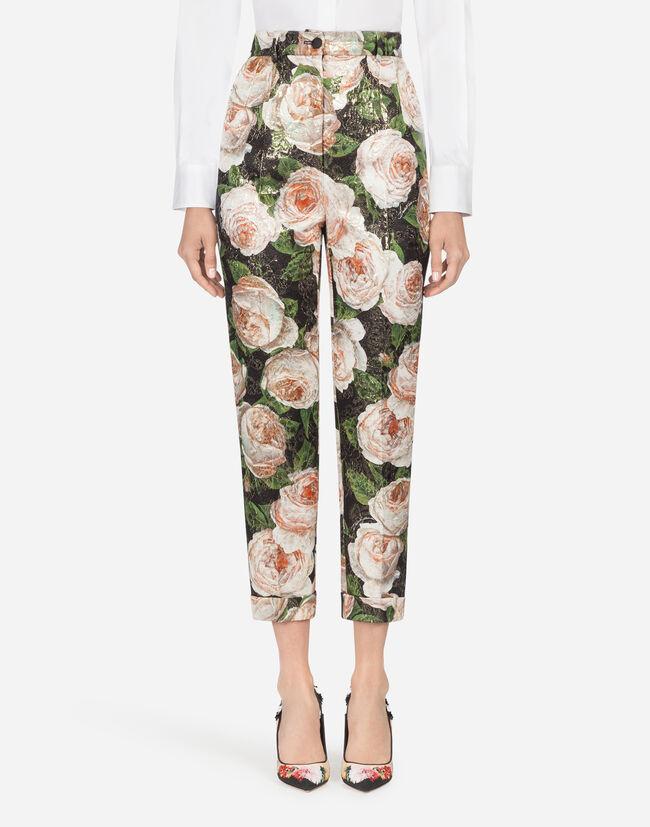 Dolce & Gabbana PRINTED BROCADE PANTS