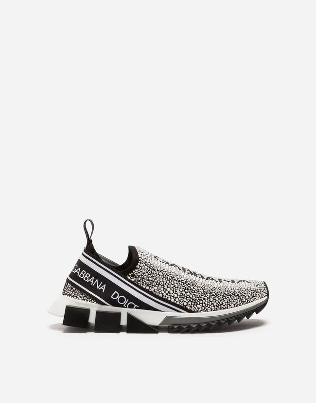 bba0700e8d2e Men's Sneakers and Slip-On | Dolce&Gabbana - SORRENTO SNEAKERS WITH  RHINESTONES