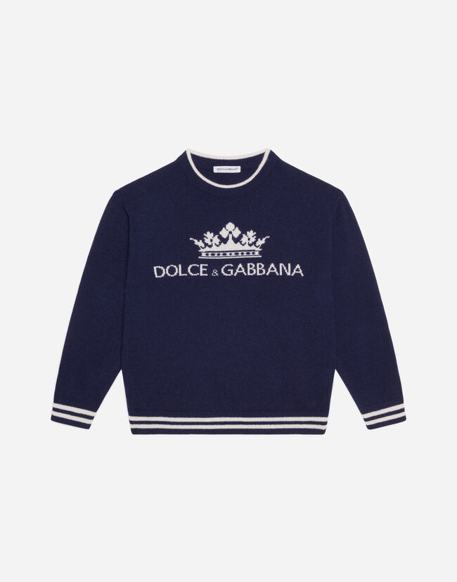Dolce & Gabbana CREW NECK SWEATER WITH LOGO