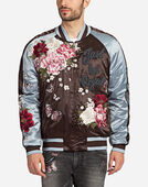PRINTED BOMBER WITH THREAD EMBROIDERIES