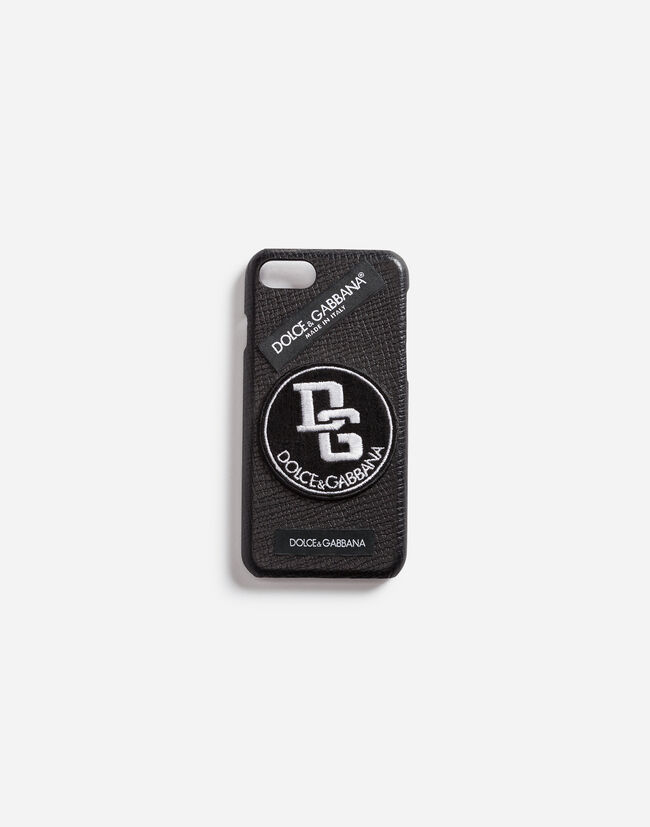 CALFSKIN IPHONE 7 COVER WITH LABELS PATCH
