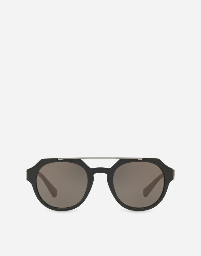 ROUND SUNGLASSES WITH A DOUBLE BRIDGE