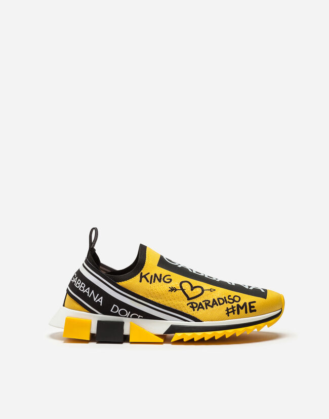 ea797f3b Men's Sneakers and Slip-On | Dolce&Gabbana - SNEAKERS IN SORRENTO GRAFFITI  PRINT