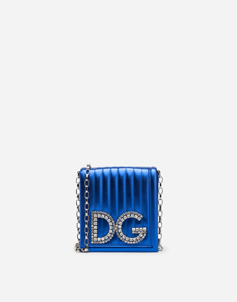 DG GIRLS CROSS-BODY BAG IN QUILTED MORDORÉ NAPPA LEATHER