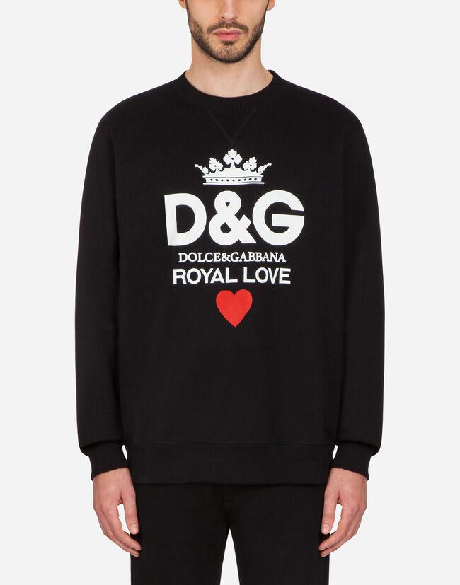Dolce & Gabbana COTTON SWEATSHIRT WITH D&G PRINT