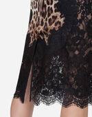Dolce & Gabbana PRINTED SILK SKIRT
