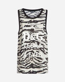 SLEEVELESS PRINTED CADY T-SHIRT