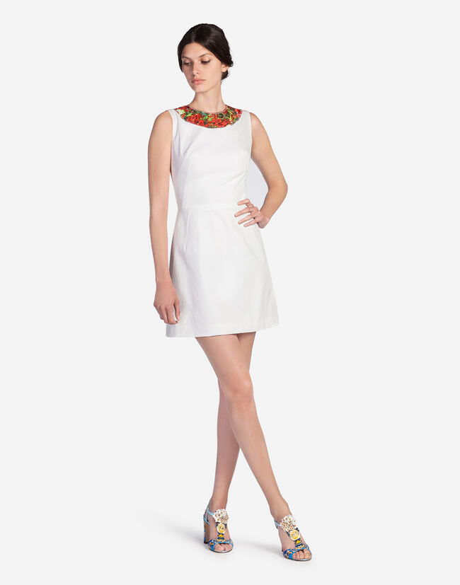 DRESS IN COTTON WITH MAJOLICA DETAILS
