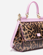 SMALL SICILY BAG IN PRINTED DAUPHINE LEATHER