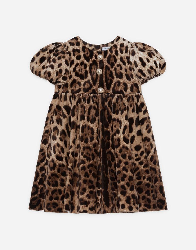 online store f3335 e42f7 Vestiti Bambina 2-12 Anni | Dolce&Gabbana - ABITO IN VELLUTO STRETCH STAMPA  LEOPARDO