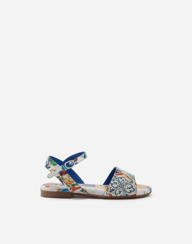 Dolce&Gabbana PRINTED PATENT LEATHER SANDALS