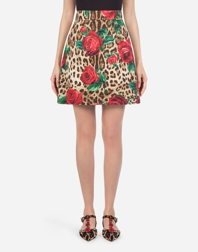 Dolce&Gabbana A-LINE SKIRT IN BROCADE