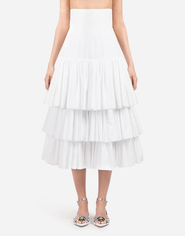 Dolce & Gabbana RUFFLED COTTON SKIRT