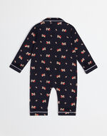 MIMMO THE DOG ONESIE IN PRINTED COTTON