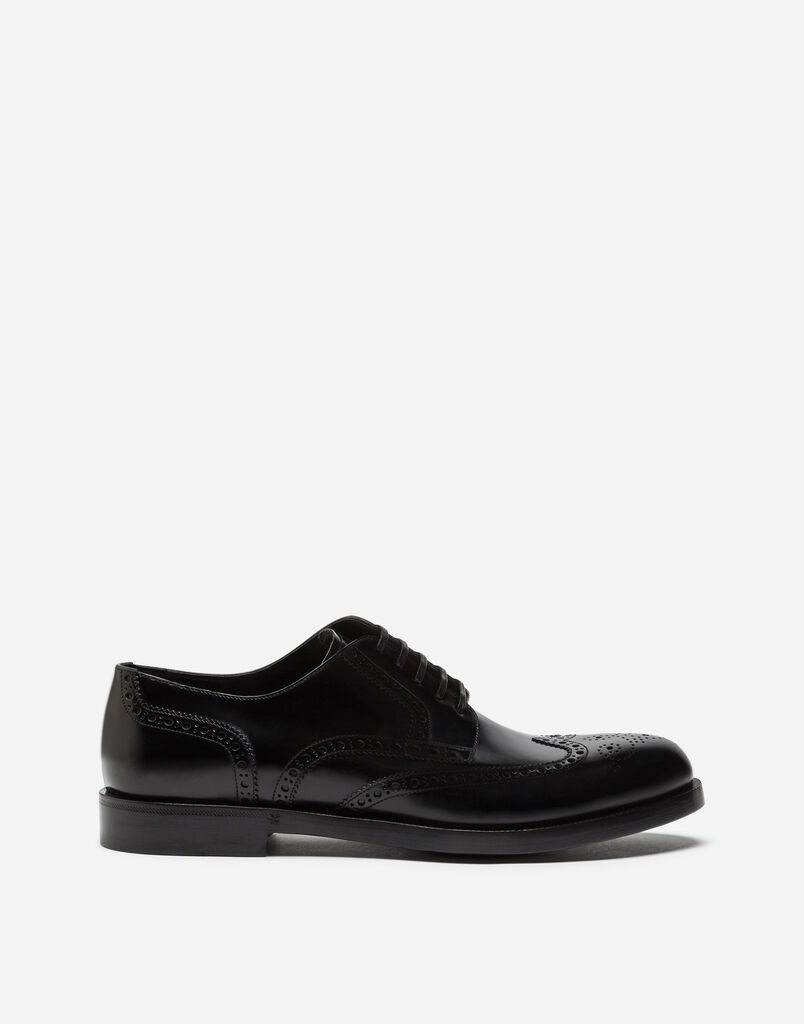 Dolce&Gabbana FULL BROGUE DERBY SHOES IN BRUSHED CALFSKIN