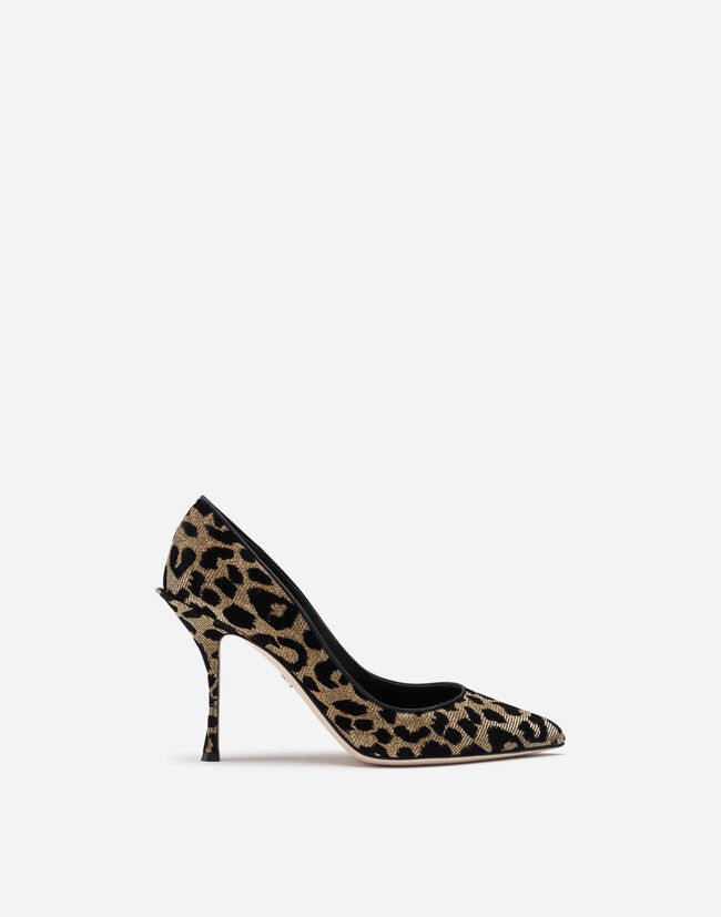 Dolce & Gabbana PUMPS IN COLOR-CHANGING LEOPARD FABRIC