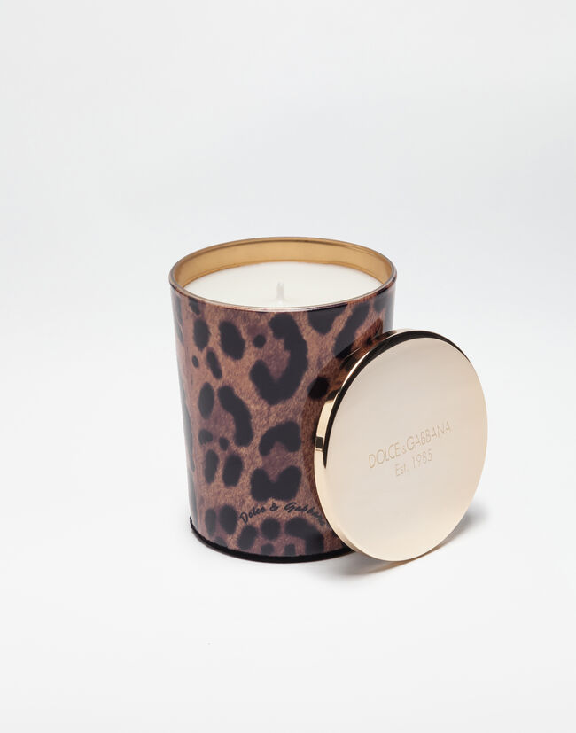 Dolce&Gabbana SCENTED WAX CANDLE WITH PRINTED GLASS