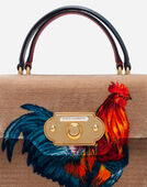VELVET STITCH WELCOME HANDBAG