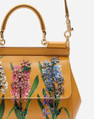 Dolce&Gabbana SICILY HANDBAG IN PRINTED DAUPHINE CALFSKIN WITH EMBROIDERIES