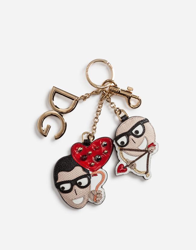 22fbd78886c7 schlüsselanhänger aus dauphine-kalbsleder mit designer-patch. Dolce   Gabbana  SCHLÜSSELANHÄNGER ...