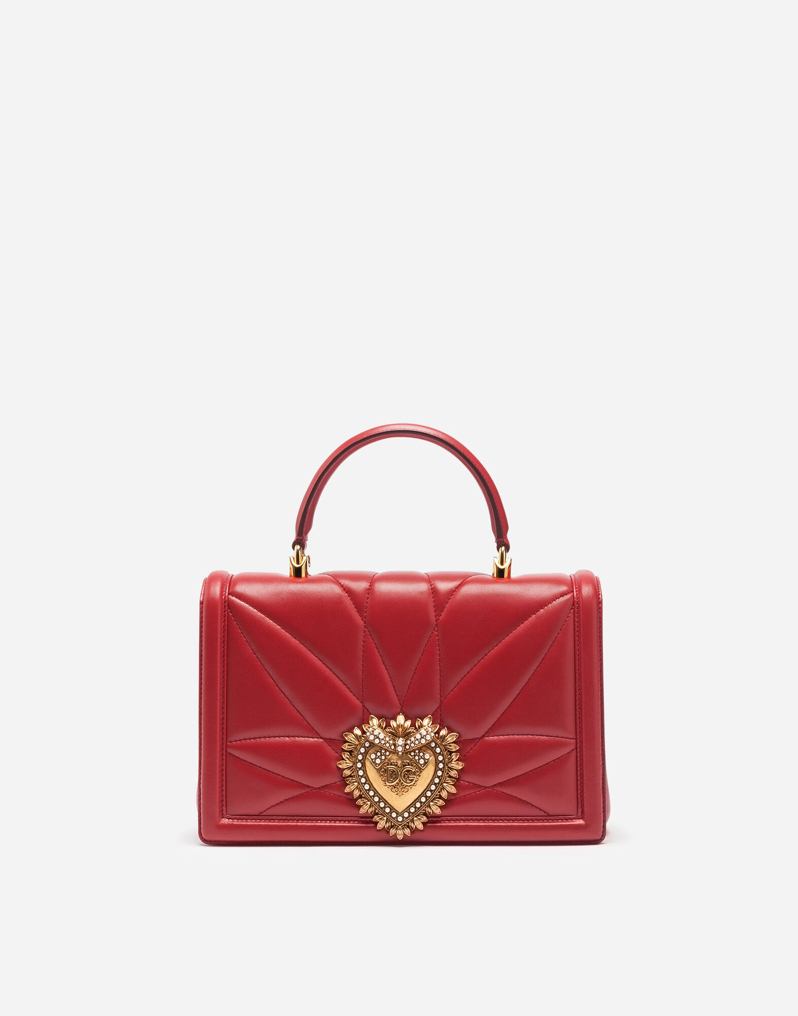 Shoulder Bag for Women, Hibiscus Red, Leather, 2017, one size Dolce & Gabbana
