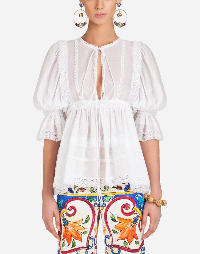 Dolce&Gabbana COTTON MUSLIN BLOUSE