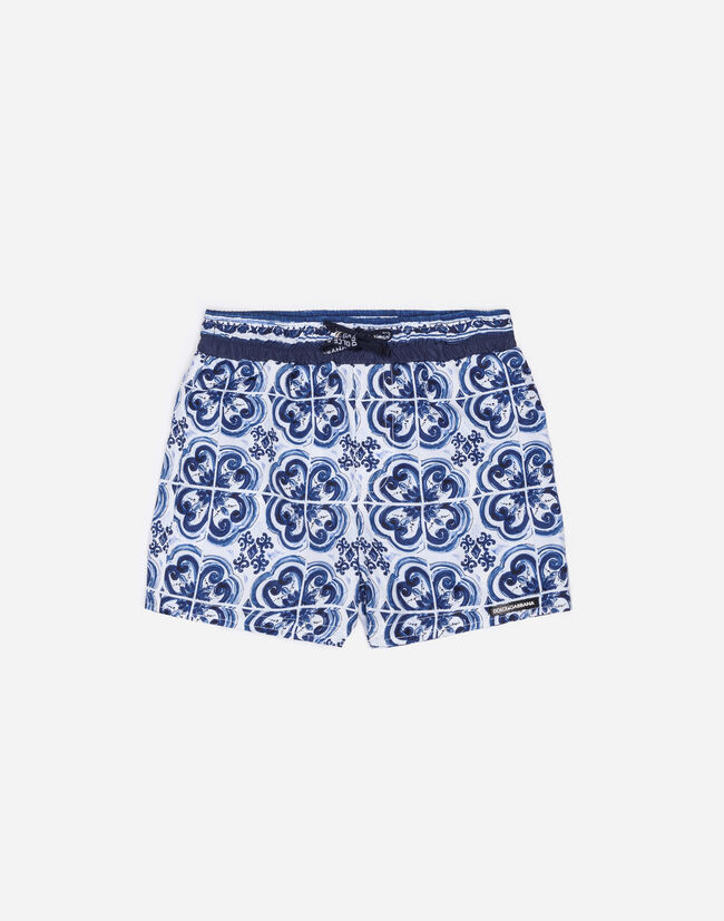 CASUAL SHORTS IN PRINTED COTTON