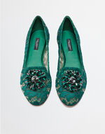 SLIPPERS IN TAORMINA LACE WITH CRYSTALS