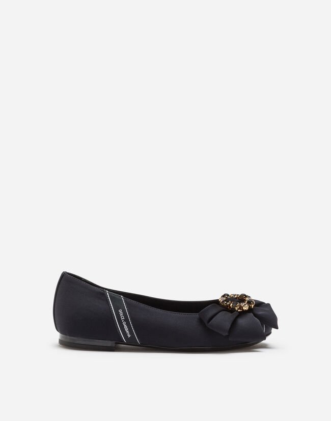 19b28333749 CHARMEUSE BALLET FLATS WITH LOGO TAPE