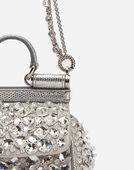 Dolce&Gabbana MICRO SICILY BAG IN SATIN WITH EMBROIDERIES