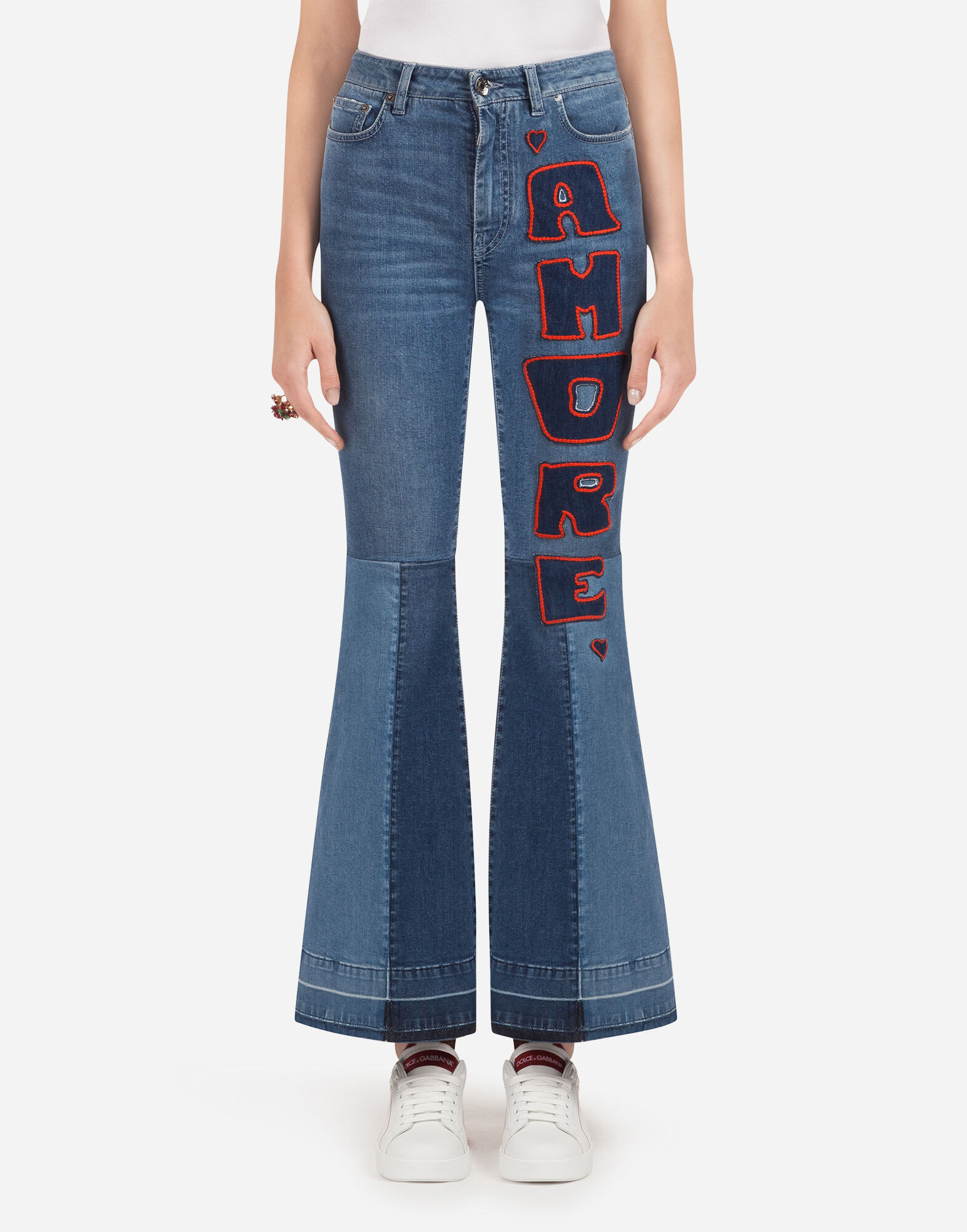 DENIM JEANS WITH PATCH