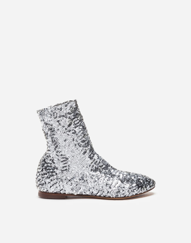 ANKLE BOOTS WITH SEQUINS