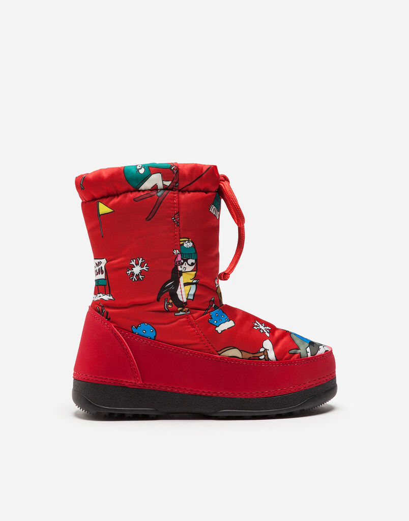Dolce&Gabbana SNOW BOOTS IN NYLON WITH PATCH