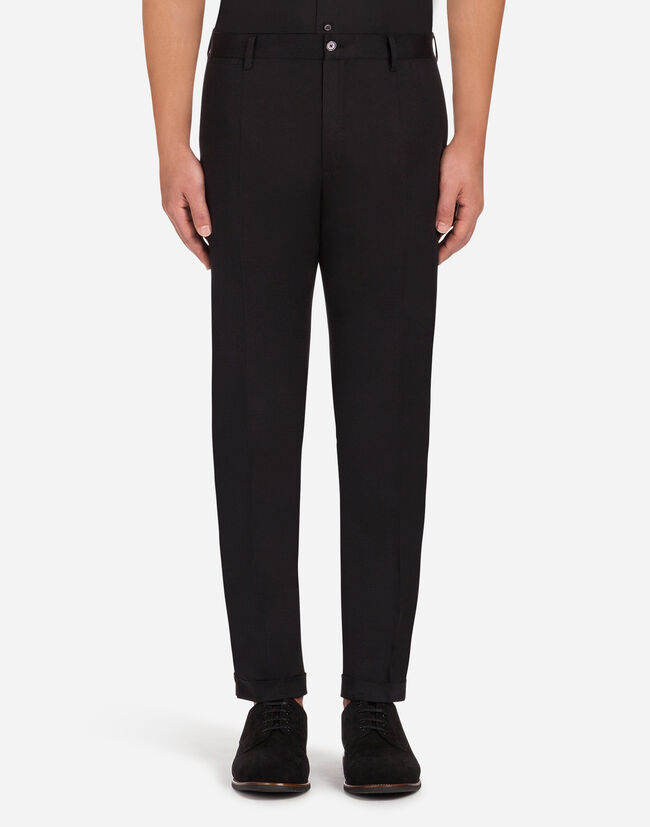 PANTS IN STRETCH COTTON WITH STRIPE