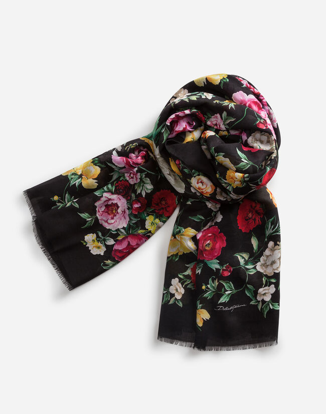 135 X 200CM PRINTED SCARF IN CASHMERE BLEND