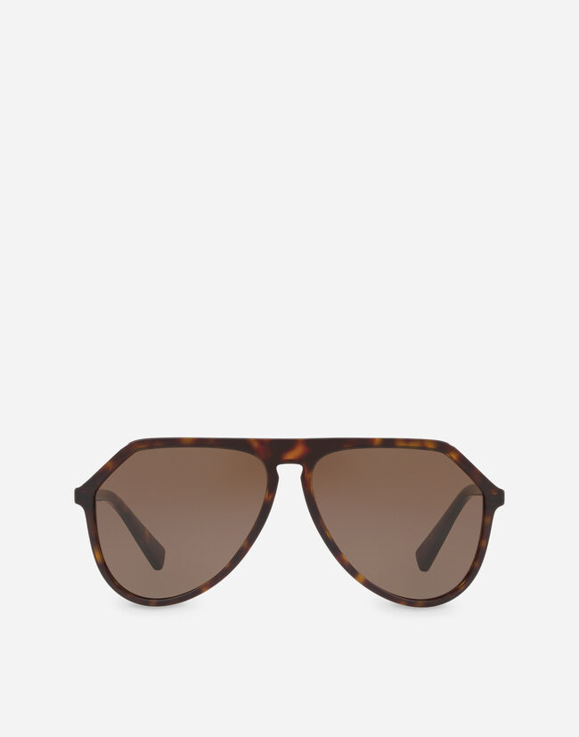 PILOT ACETATE SUNGLASSES WITH WITH KEYHOLE BRIDGE