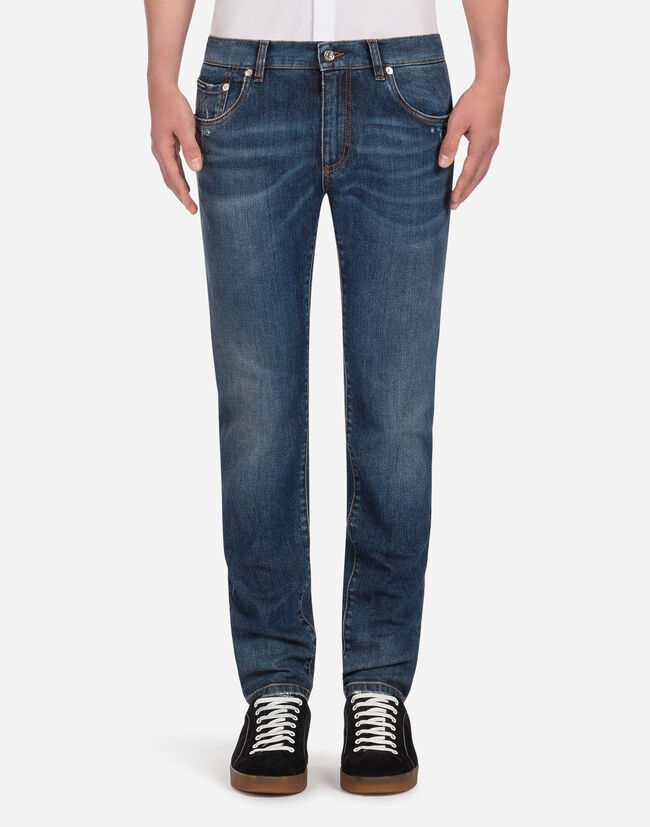 STRETCH COMFORT STONE-WASHED JEANS