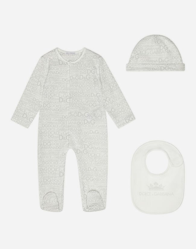Dolce&Gabbana SET WITH PRINTED COTTON BODYSUIT AND CAP