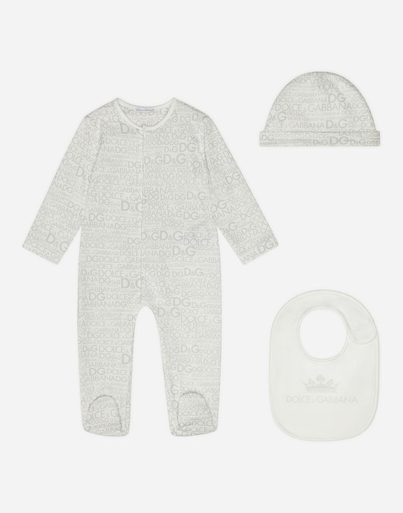 SET WITH PRINTED COTTON BODYSUIT AND CAP