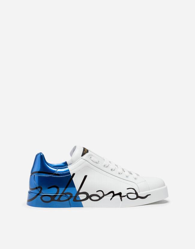 Dolce & Gabbana METALLIC PATENT CALFSKIN PORTOFINO SNEAKERS