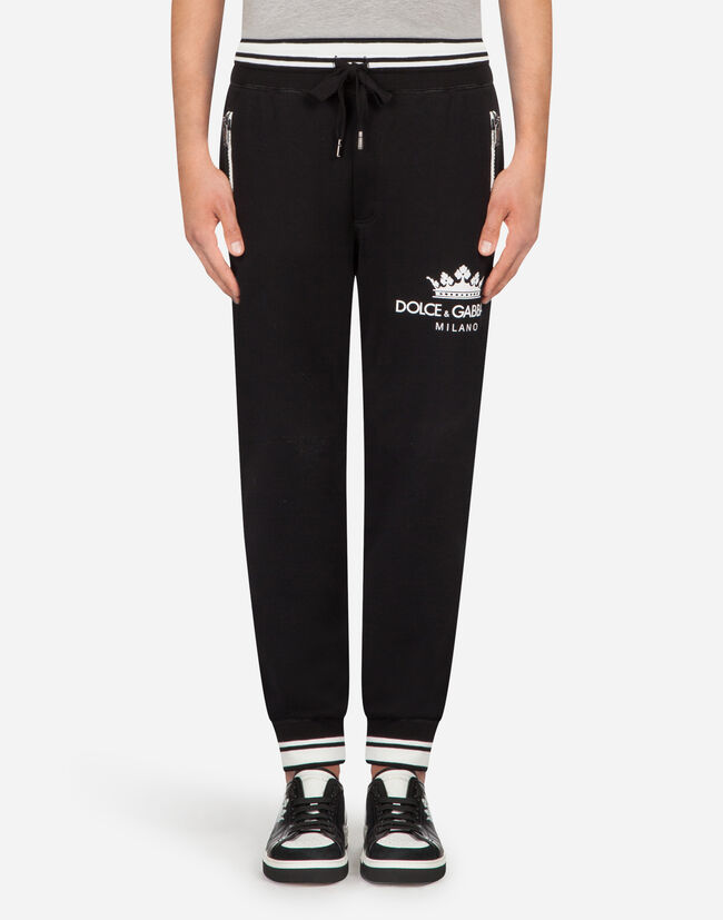 Dolce&Gabbana COTTON JOGGING PANTS WITH PRINT