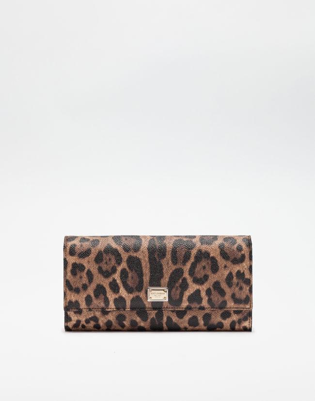 342e0d1ef5 Women's Wallets | Dolce&Gabbana - CONTINENTAL WALLET IN LEOPARD TEXTURED  LEATHER